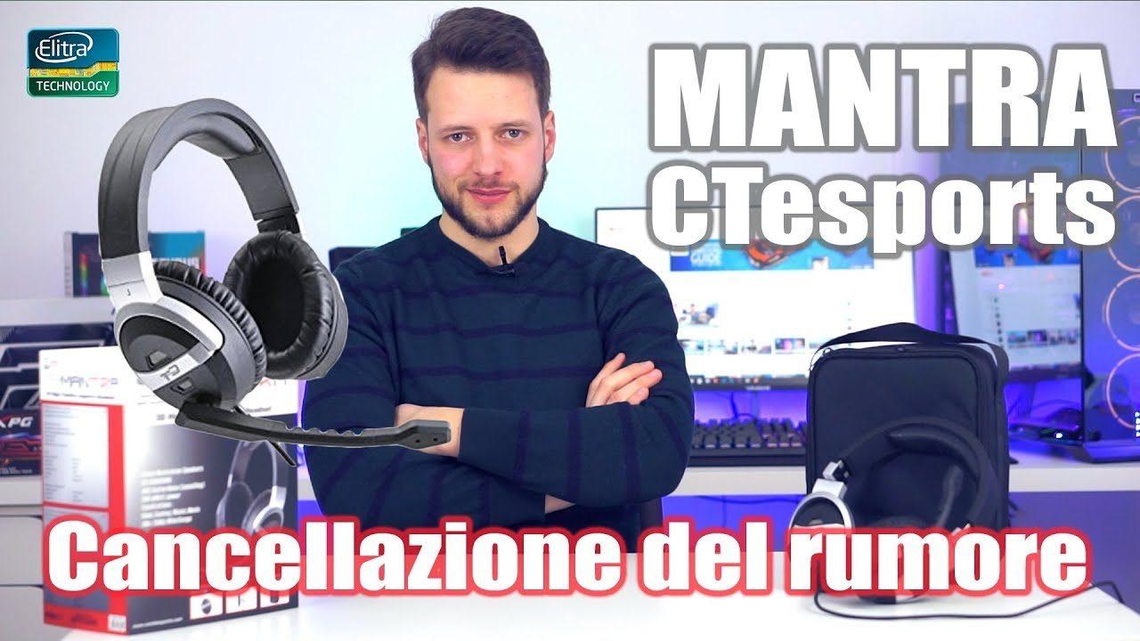Cuffie PROFESSIONALI con cancellazione del rumore - MANTRA CTesports
