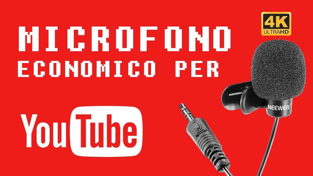 Microfono economico per YouTube - Recensione e test Neewer Lavalier | 4K