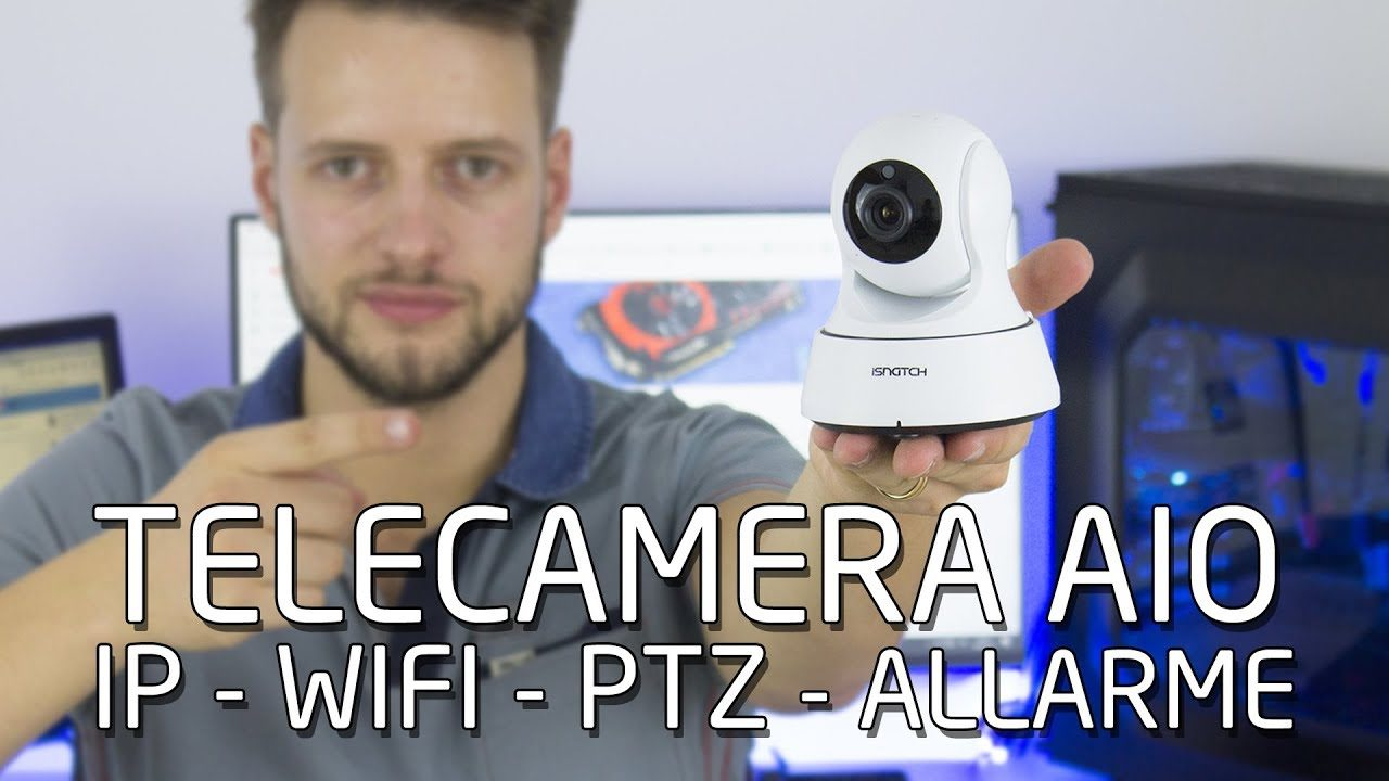 Telecamera All In One - IP WIFI PTZ con allarme