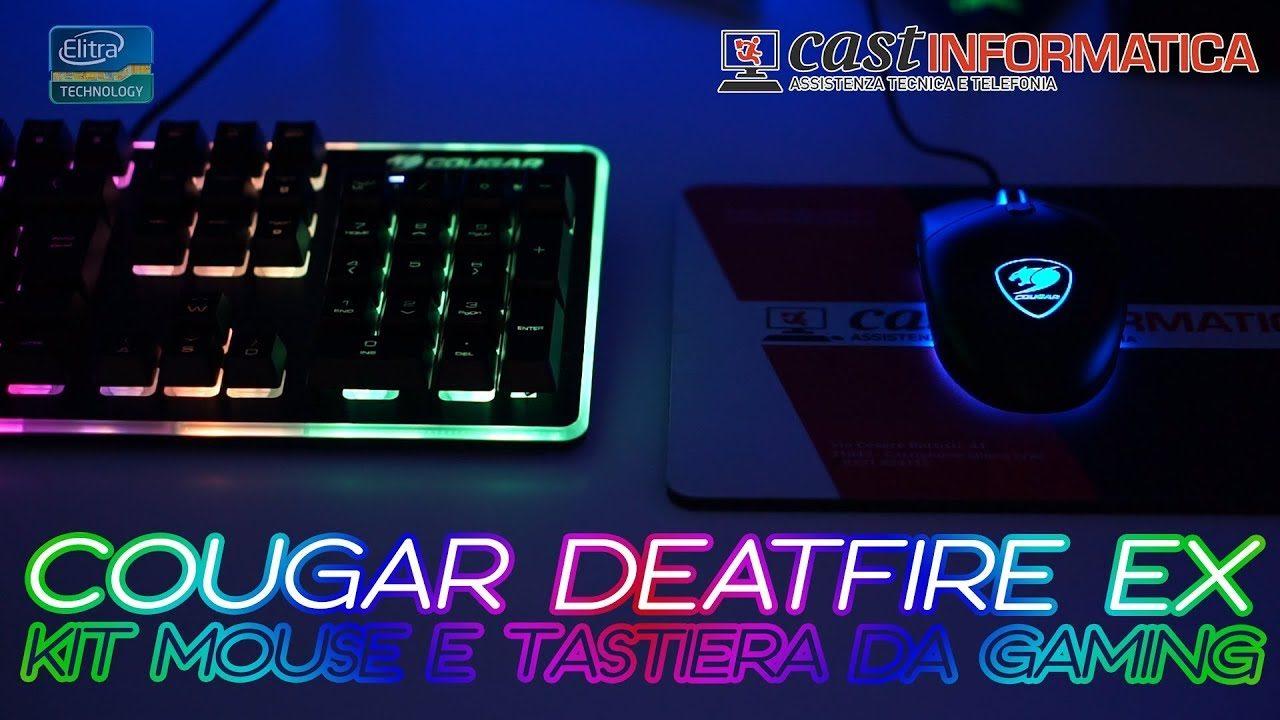 Kit Mouse e Tastiera da gaming A-RGB - COUGAR DEATHFIRE EX